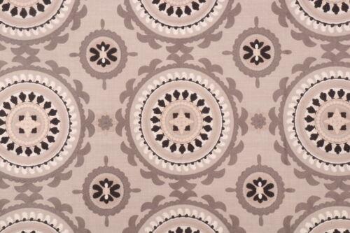 ETHNIC CHIC SUZANI MEDALLION WVN/ EMBROIDERED MULTIPURPOSE FABRIC BTY GREY MULTI