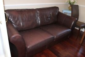 Marks & Spencer Abbey Leather Sofa Bed Brown M & S Metal Action Collection Torquay