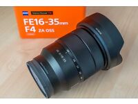 Sony Zeiss 16-35mm f4 FE OSS Perfect Condition w/box