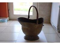 Antique Brass Helmet Coal Scuttle