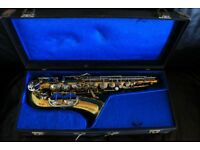 Meister Alto Saxophone (plus case, music books/sheet music, brand new reeds, strap)