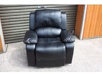 Black Faux leather Relining chair. FREE DELIVERY IN BELFAST!