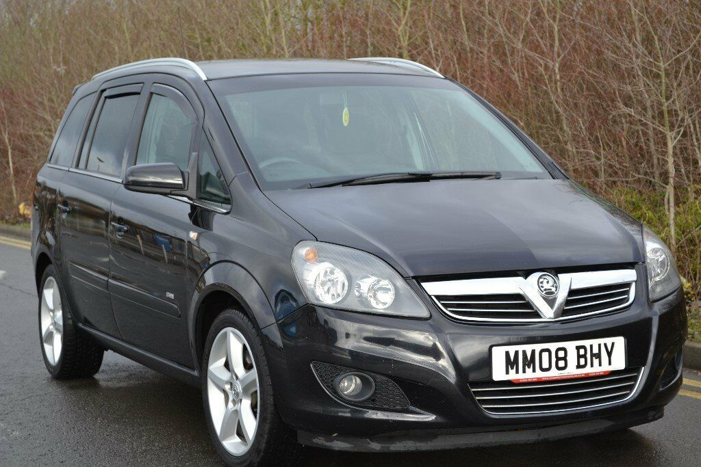 2008 vauxhall zafira 1 9 cdti 150 sri 7 seater black low mileage in cathays cardiff gumtree. Black Bedroom Furniture Sets. Home Design Ideas