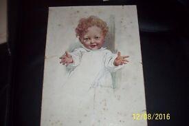 vintage print of picture signed L Hocknell
