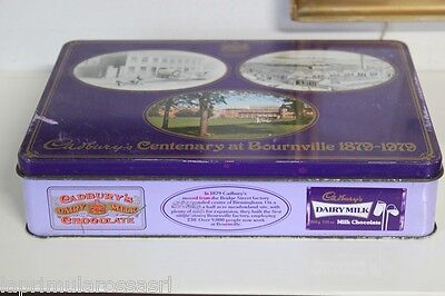 CADBURY'S CENTENARY AT BOURNVILLE  VECCHIA SCATOLA IN LATTA  VINTAGE TIN BOX