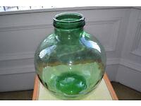 Viresa Green Glass Bottle Garden