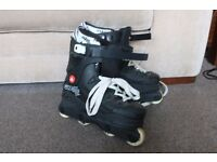 Black Rollerblades, Size 4. Very Good Condition