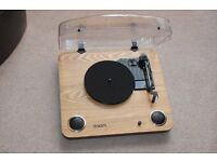 ION Max LP Conversion Record Player With Speakers USB Input Converts Vinyl To MP3