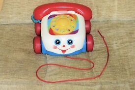Fisher Price Pull Along Telephone with Eyes that Go Up & Down when Pulled , Histon