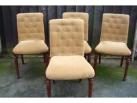 SET 4 DINING CHAIRS AS NEW