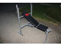 Weights bench - Pro Power bench for home gym exercise (Barbells / dumbells available separately)