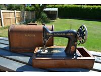 Vintage Singer Sewing Machine and Case
