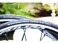 A pair of Continental Grand Prix GP 4000S2 Tires 700c x 23mm Clincher RRP£57.99 as new