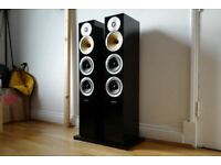 pair of Bowers and Wilkins B&W CM8 floor standing Speakers Gloss Piano Black 804 CM9 CM7 s2 S1 £799