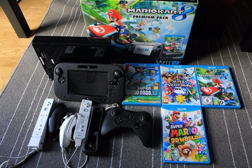 nintendo wii u premium 32gb bundle mario 3d world mario. Black Bedroom Furniture Sets. Home Design Ideas