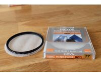 Hoya 77mm HMC UV(C) clear filter in excellent condition