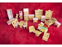 Dolls House Furniture like Plan Toys including Figures,Dining,Bedroom,Kitchen,Lounge,Bathroom,Histon