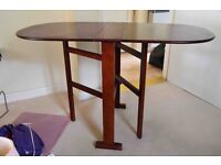 Small drop-leaf table