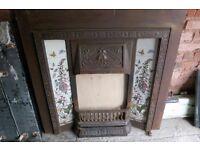 fireplace insert standard size cast iron