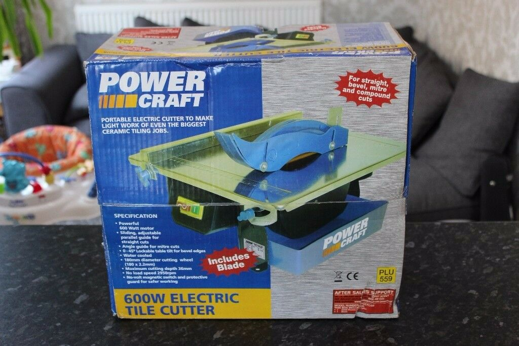 Power Craft 600w Electric Tile Cutter New Unopened