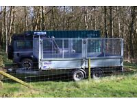 Ifor Williams LM126 Flatbed with removable meshside kit, checkered aluminium floor, 8 lash points.