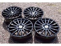 FORD FOCUS RS STYLE ALLOY WHEELS BLACK **NEW**