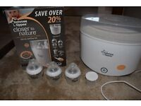Tommee Tippee Electric Steriliser and Bottles