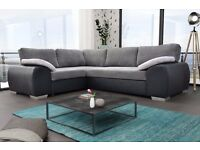 BRAND NEW ENZO SOFA BED, AVAILABLE IN FULL LEATHER & CORD FABRIC**UK DELIVERY AVAILABLE