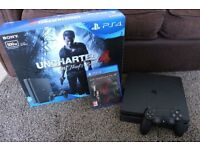 Playstation 4 - 500GB - Slim - Jet Black + 1 controller and Metal Gear Solid