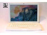 " White 13"" Apple MacBook 2Ghz 2gb 160Gb Logic Pro 9 MainStage Ableton Virtual DJ Final Cut Pro X "