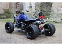 ★2017 250CC BLUE / CARBON FIBRE ROAD LEGAL QUAD BIKE EXCELLENT CONDITION LIKE NEW 17 PLATE ★