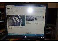 Dell 19 inch LCD monitor in good working order, with power and VGA cables