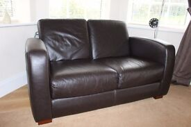 2 Seater Sofa, Chocolate Brown Leather