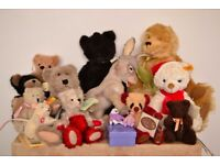 Collectible and vintage bears and stuffed toys- Steiff, Deans, Boyds, Quarrington- Christmas gifts