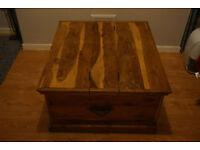 Vintage Indian Oak Table