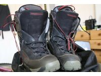 Thermofit Ski Boots (Rossignol, Size 8.5-9.5 I think) with carrying Bag