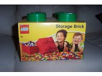 Lego stackable storage brick with 4 knobs, bricks not included.