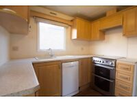 Static Caravan 32' x 12' with fully equipped kitchen & large TV in lounge