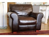 Comfy leather armchair