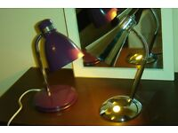 Purple Desk/ Table lamp