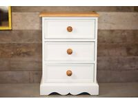 Solid Pine Bedside Draws / Table - Hand Painted in Farrow & Ball