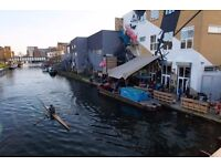You shouldn't freelance from your bedroom- canalside coworking desk available in Hackney Wick