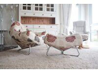 Stylish Arm Chair and Matching Footstool