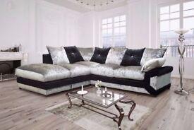 Vivien crushed velvet sofa range