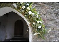 Wedding Arch Base - Strong foam wedding arch base with real, living foliage