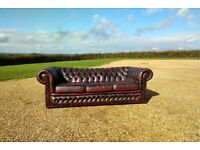 3 Seater Red Chesterfield Sofa, full of character! Harlow Area