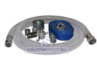 3 Flex Suction Hose Mud Water Trash Comp. Camlock Kit W50 Discharge Hose Fs