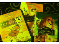 The Lion king 1,2 & 3 dvds (Disney classics)