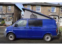 VW Transporter T5 Blue 1.9TDI 4 berth, pop top campervan - full professional conversion