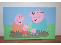 Large Peppa Pig Canvas